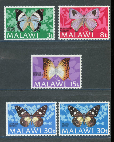 Malawi Scott 199-203 Butterflies Mint Lightly Hinged