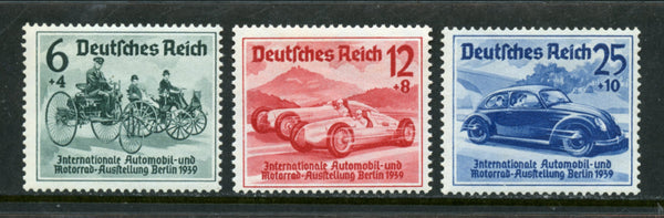 Germany Berlin Scott B134-36 Cars Mint NH Set Motorcycle