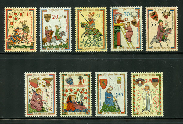 Liechtenstein Scott 359-67 Mint NH