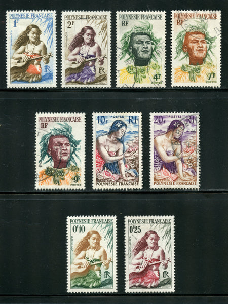 French Polynesia Scott 182-90  Used