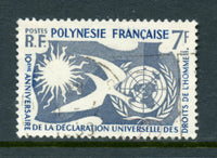 French Polynesia Scott 191 Human Rights Used
