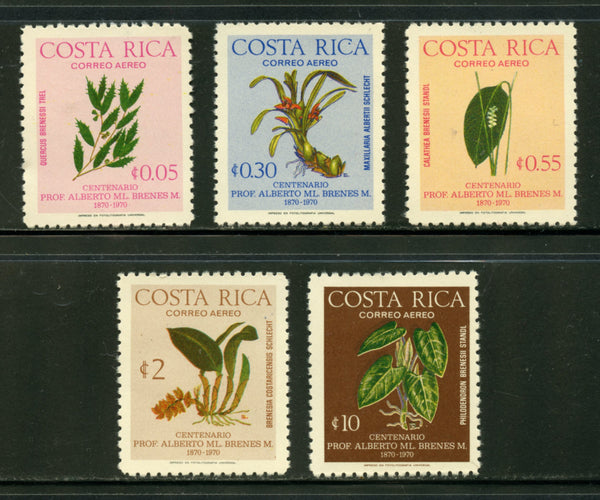 Costa Rica Scott C653-57 Orchids Mint NH Set