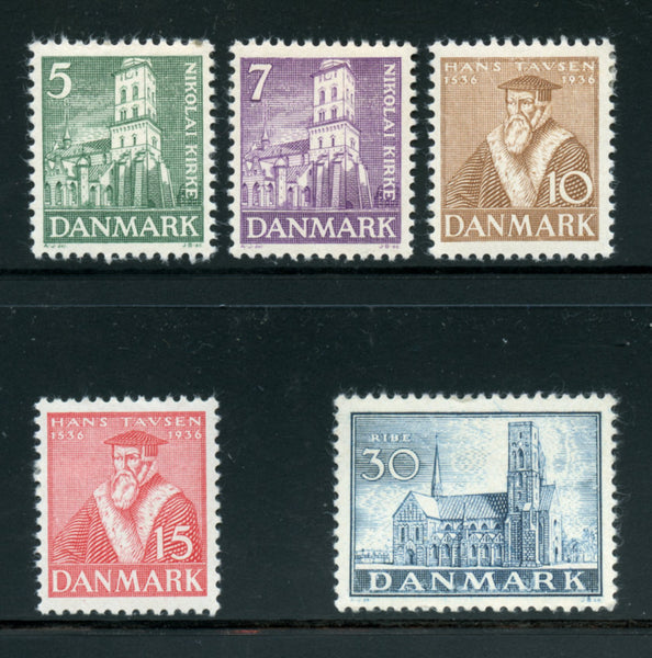Denmark Scott 252-56 Mint Lightly Hinged