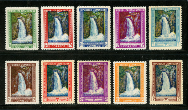 Dominican Republic Scott 422-27, C64-67 Waterfalls Mint Lightly Hinged Set