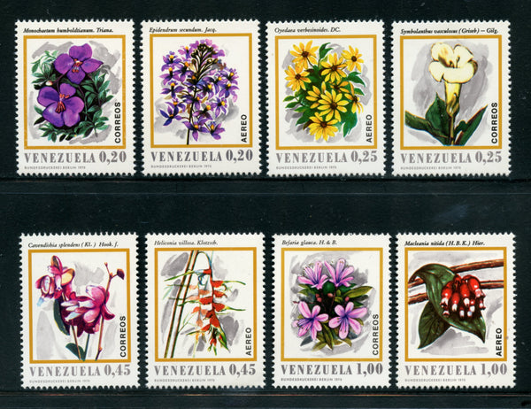 Venezuela Scott 964-67, C1049-52 Orchids Mint NH Set