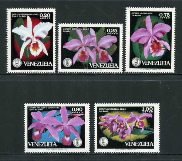 Venezuela Scott C1055-59 Orchids Mint NH Set