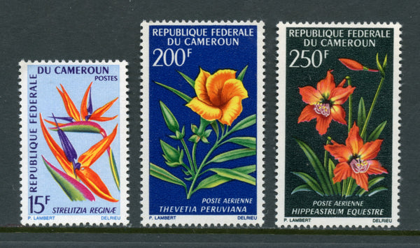 Cameroun Scott 469, C88-C89 Orchids Mint NH Set
