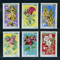 Congo republic Scott 237-42 Orchids Mint NH Set