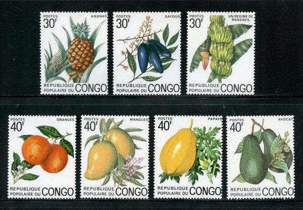 Congo republic Scott 298-304 Orchids Mint NH Set Fruits