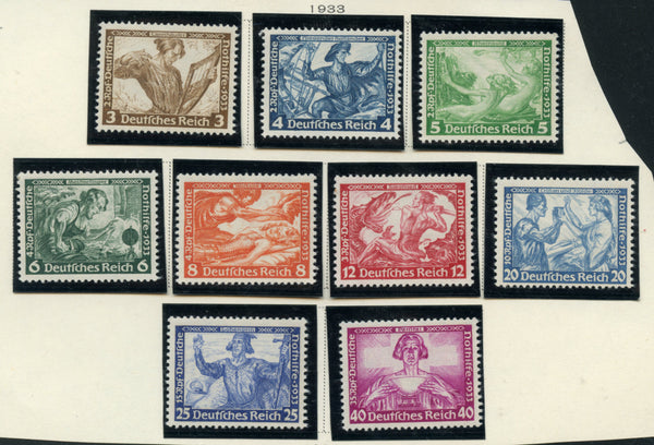 Germany Scott B49-57 MI 499-507 LH in Mounts Very Lovely