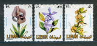 Lebanon, Liban Scott 482-84 Flowers Mint Never Hinged