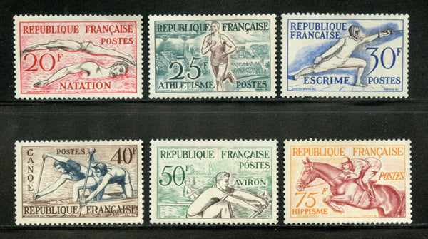 France Scott 700-705 Sports Mint Lightly Hinged