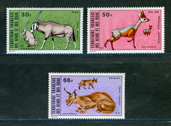 Afars and Issas Scott C74-76 Animals Mint NH