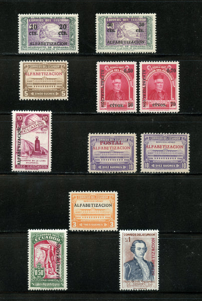 Ecuador Scott 536-41, C216-20 Mint NH in Mounts