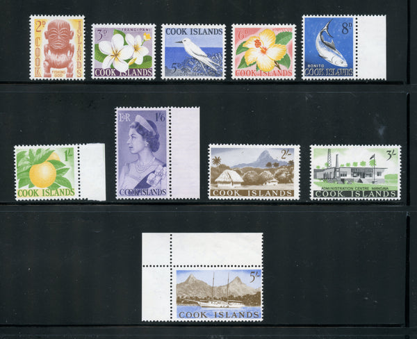 Cook Islands Scott 149-58 Mint NH