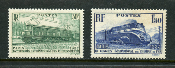 France Scott 327-28 Trains Mint Lightly Hinged