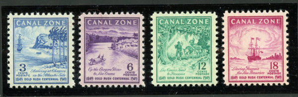 Canal Zone Scott 142-45 Mint NH In Mounts