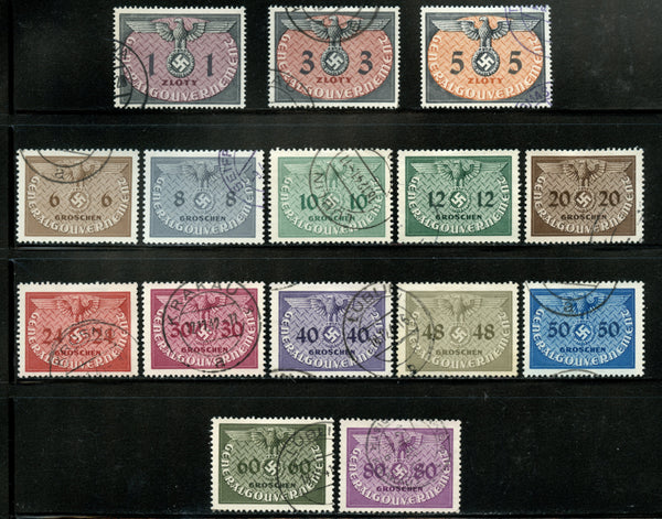 Poland Scott NO1-15 Used Small Tear on 12 Value