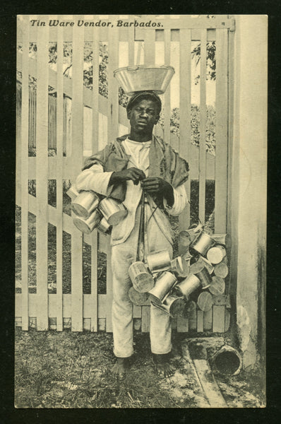 Barbados Tinware Vendor Fresh and UnUsed Postcard PC