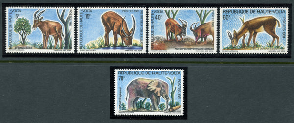 Upper Volta Scott 377-80 Animals Mint NH