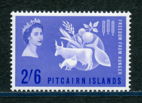 Pitcairn Islands  Scott 35 Freedom From Hunger Mint Lightly Hinged