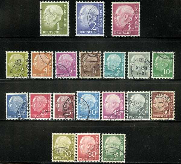 Germany Scott 702-21 MI. 177-196 PRESIDENT  Theodor Heuss Used Set