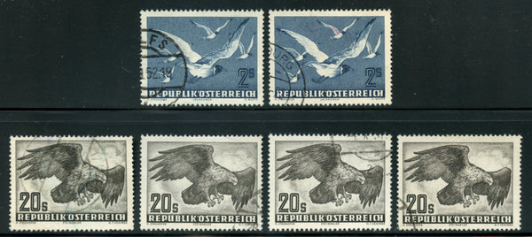 Austria Used High Value (2) C56, (4) C60 Nice Clean Group