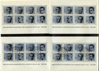 Germany Scott 883-90 FOUR Souvenir sheets 2 NH 2 Used