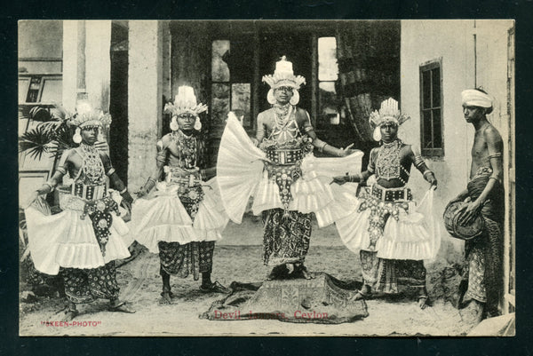Ceylon Vintage Postcard PC Post Card Devil Dancers