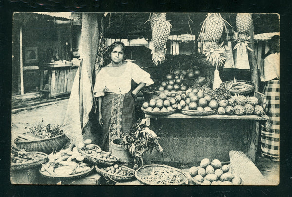 Ceylon Vintage Postcard PC Post Card Fruit Boutique