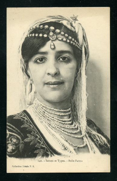 Algeria Algier Vintage Postcard PC Post Card Local Beauty In Her Regalia Costumes