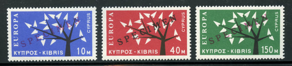 Cyprus Scott 219-21 Europa Ovpt. SPECIMEN Mint Lightly Hinged