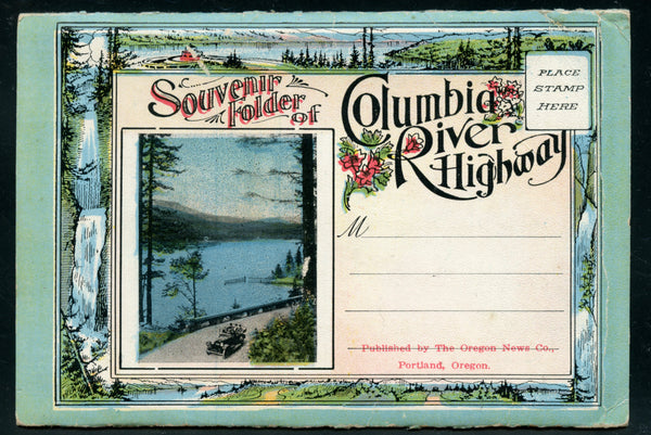 US Early 20th Cent. Souvenir Folder of 20 Scenes Columbia River Highway