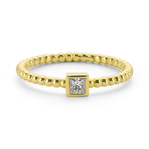 14K Solid Gold Diamond Solitaire Ring For Women - Jewelryist