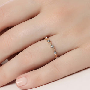 14K Solid Gold Diamond Wedding Ring For Women - Jewelryist