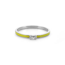 Load image into Gallery viewer, 14K Solid Gold Diamond Enamel Ring For Women - Jewelryist