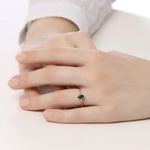 Load image into Gallery viewer, 14K Solid Gold Emerald Ring For Women - Jewelryist