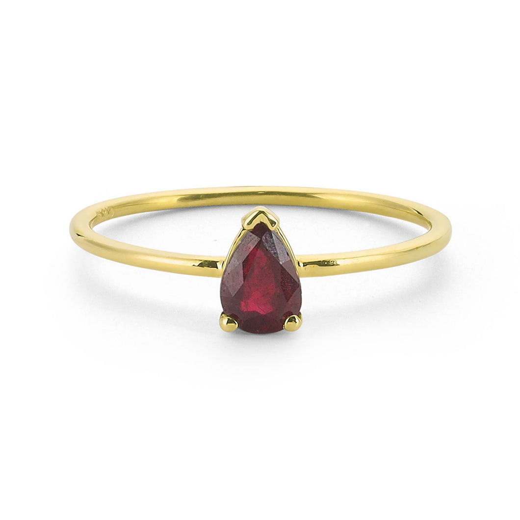 14K Solid Gold Ruby Ring For Women - Jewelryist