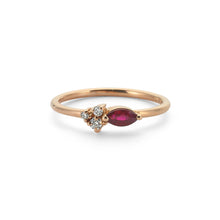 Load image into Gallery viewer, 14K Solid Gold Diamond Ruby Ring For Women - Jewelryist