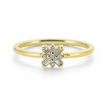 Load image into Gallery viewer, 14K Solid Gold Diamond Stacking Ring For Women - Jewelryist