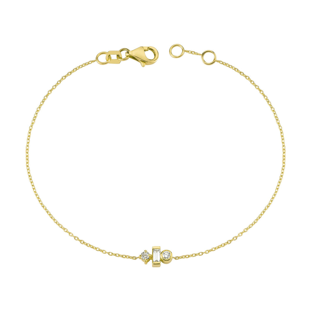 14K Solid Gold Diamond Bracelet for Women - Jewelryist