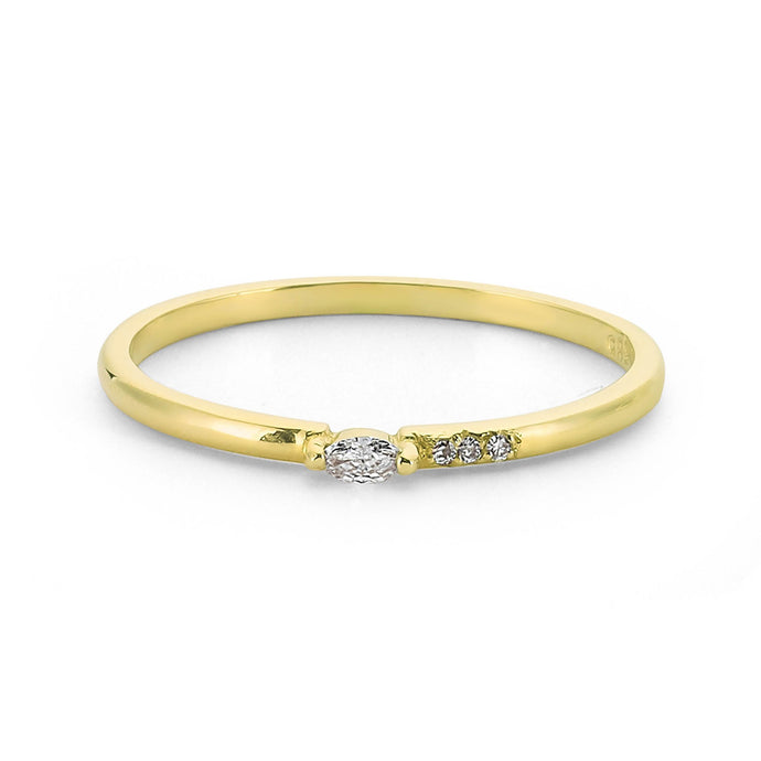 14K Solid Gold Diamond Engagement Ring For Women - Jewelryist