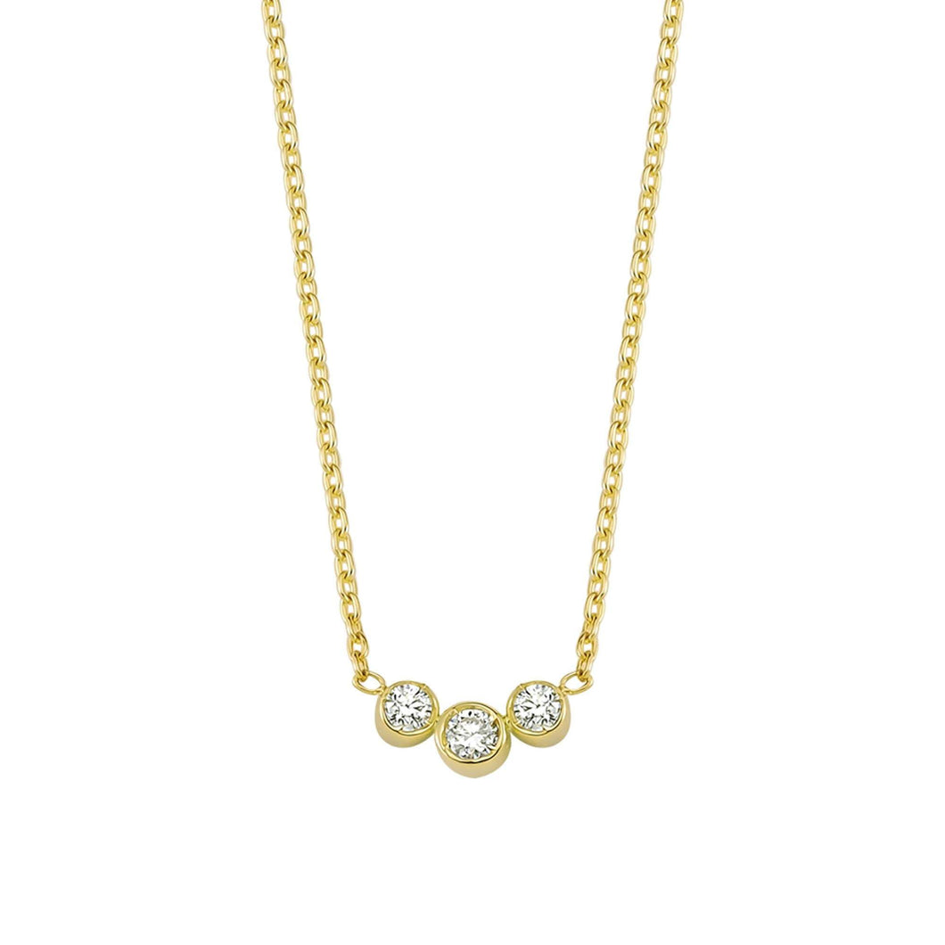 14K Solid Gold Diamond Layering Trio Necklace For Women - Jewelryist