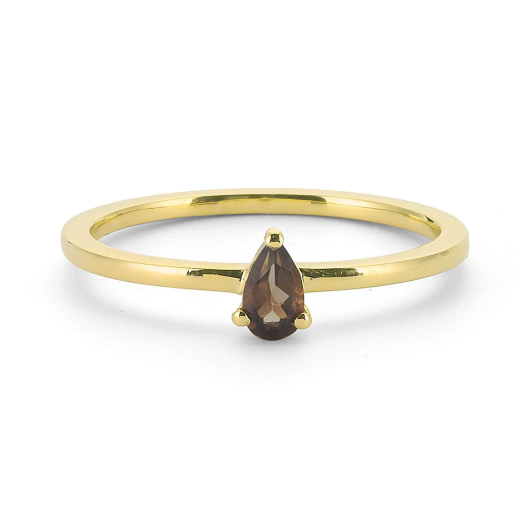 14K Solid Gold Topaz Ring For Women - Jewelryist