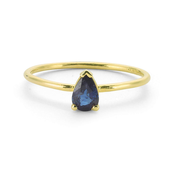 14K Solid Gold Sapphire Ring For Women - Jewelryist