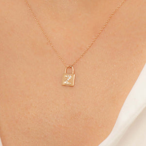 14K Solid Gold Diamond Initial Z Charm Necklace For Women - Jewelryist