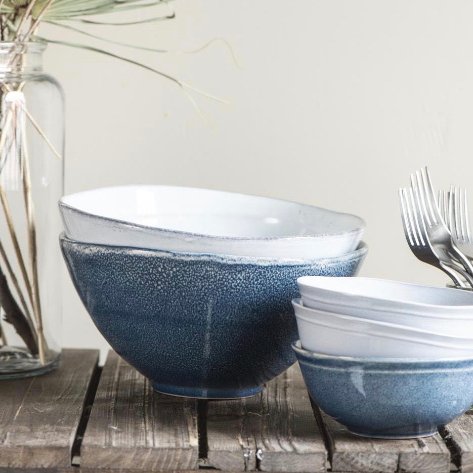 Neli Blue Serving Bowl