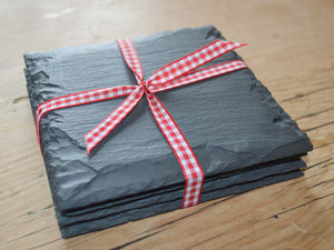 Set of Welsh slate coasters