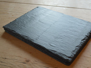 Welsh slate table mats with dressed edges