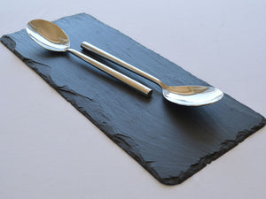 Dressed edge slate table runner